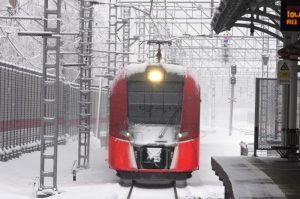 Москвичам посоветовали пересесть на МЦК из-за снега. Фото: Антон Гердо, «Вечерняя Москва»