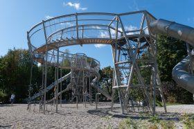 Благоустройство по программе «Мой район» дарит жителям необычные детские площадки