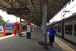 Платформы МЦК оснастят напольной навигацией к концу августа. Фото: Анна Быкова