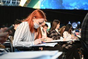 Ученики школы №1799 примут участие в краеведческом диктанте. Фото: Алексей Орлов, «Вечерняя Москва»